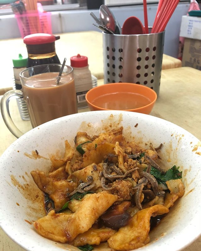 I came back for this yummy Mee Hoon Kuey Dry ($4.50)!
