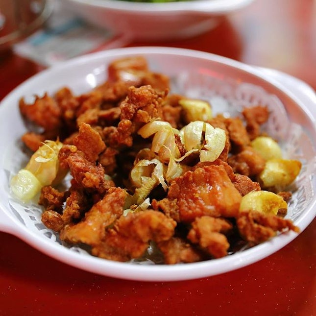 [Hong Kiat Seafood] - Deep Fried Garlic Pork.