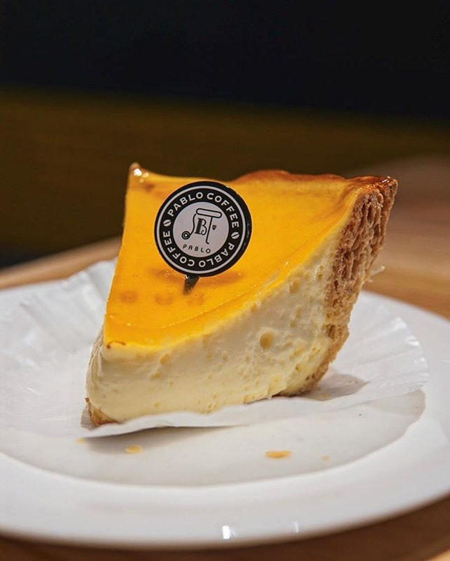 Tried my first slice of cheese tart from @pablo_cheese_tart today and I gotta say, it was so good??