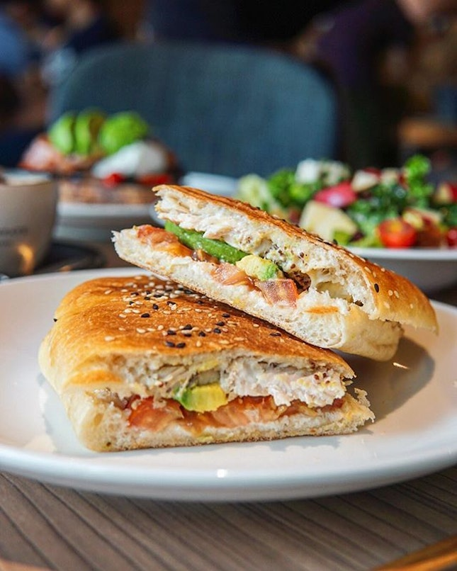 Give the Chicken & Avocado Panini ($12) from @artisanboulangerie a try if you're looking for something towards a healthier option.