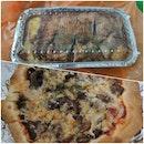 Baked Pasta & Truffle Mushroom Pizza