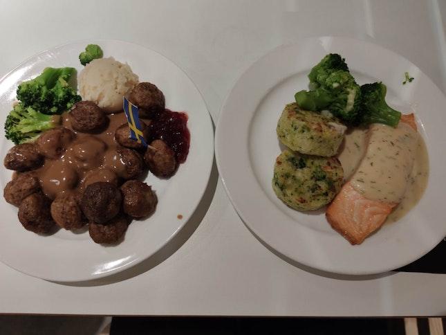 Salmon & Meatball