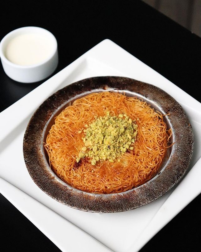 •Kunefe• This traditional Turkish dessert is really interesting!