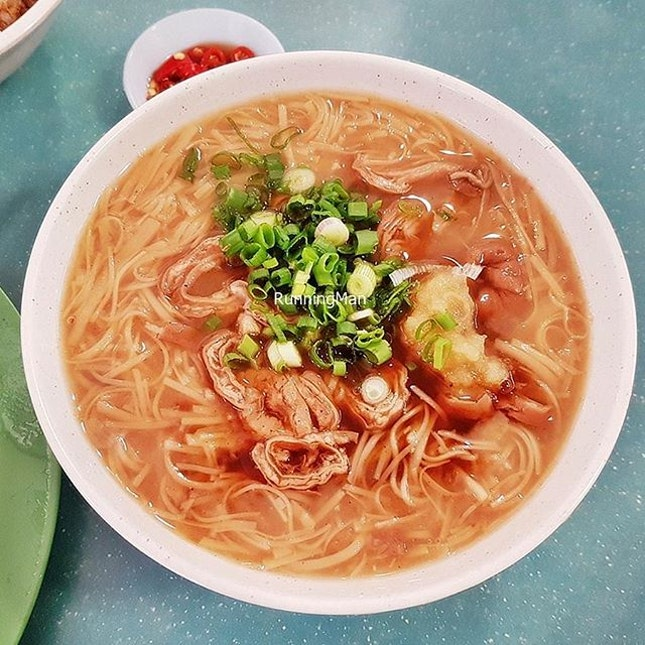 Intestine Mee Sua (SGD $3.50) @ Eat 3 Bowls.