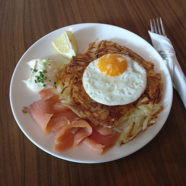 Come for the rosti, stay for the... everything else, really.