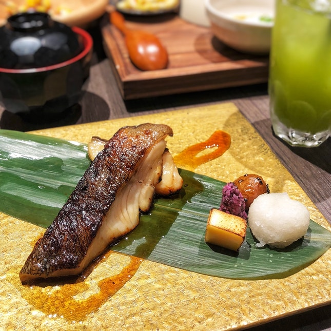 👉Charcoal Grilled Miso Marinated Black Cod Set👈