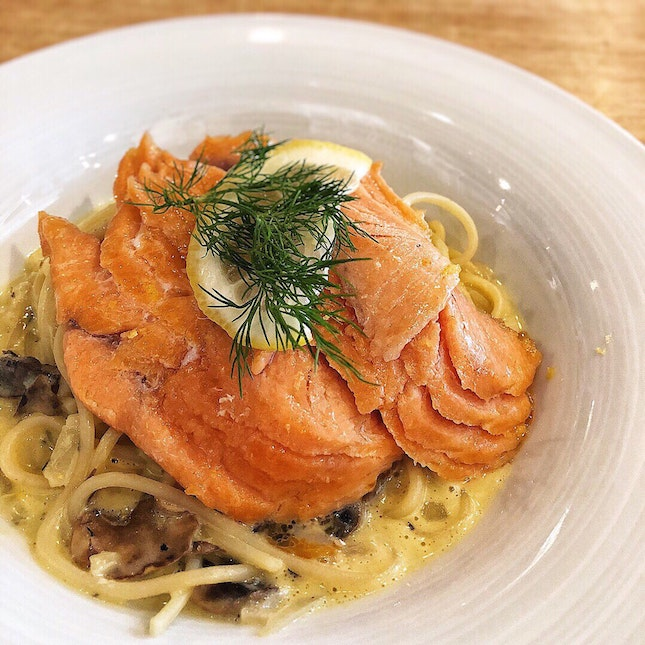 👉Smoked Salmon Lemon Carbonara👈