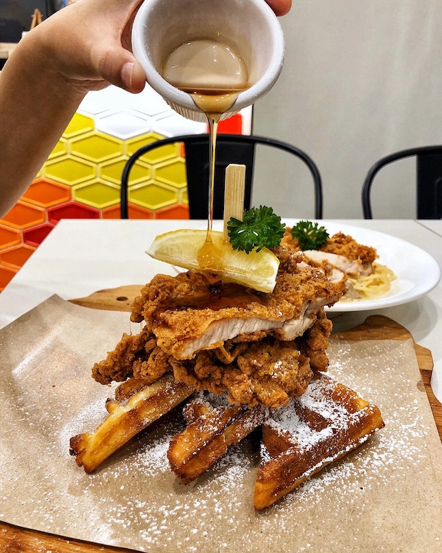 👉Crispy Chicken & Waffles👈