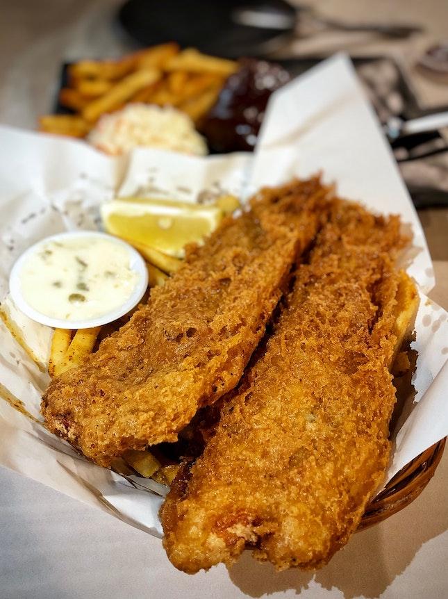 Signature Haddock Fish & Chips At Just $17.90