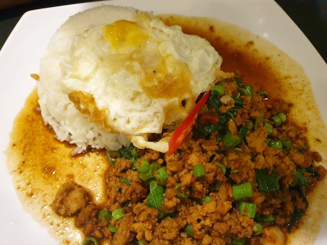 Basil Chicken With Egg