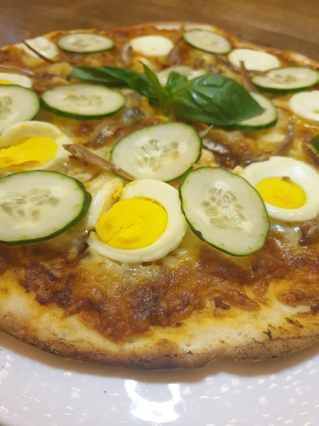 Iconic Singapore Star- Nasi lemak Pizza