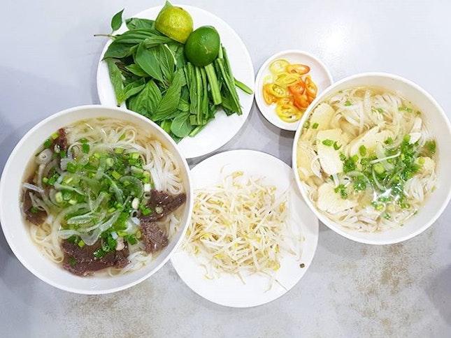 😋😋😋 (Vietnam Edition🇻🇳) Pho 2000 Beef Noodle Soup & Chicken Noodle Soup (75,000 dong - S$4.6 each)!