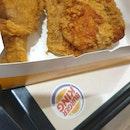 burger and chicken set $9