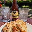 Almond Croissant & Kombucha plum $13