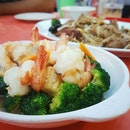 Stir-fry Broccoli With Shrimps