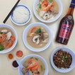 Shun Feng Crayfish 顺丰一品煲 * Crystal Crayfish Delight ~ $7.0/$12.0 (水晶虾婆煲) ~ Abalone Slices Delight ~ $7.0 (鲍鱼片煲) ~ Mackerel Slices Delight ~ $7.0 (马鲛鱼煲) ~ Red Grouper Slices Delight ~ $8.0 (红斑鱼煲) ~ Add 1 shot of Liquor in your fish soup?