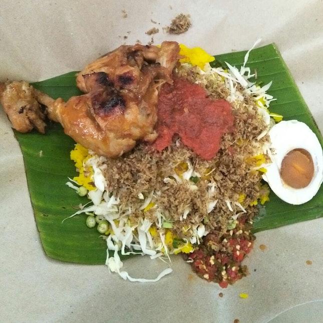 Nasi Kerabu With Ayam Bakar