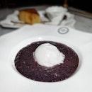 Pulot Hitam with Coconut Ice Cream: