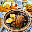 Claypot Pork Belly with White Kway Chap Set