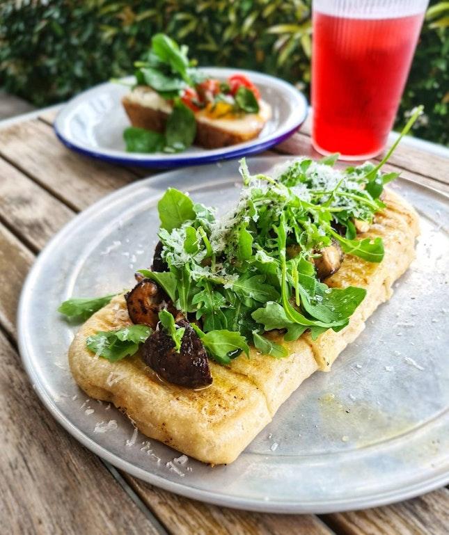 Mushroom Grilled Flatbread