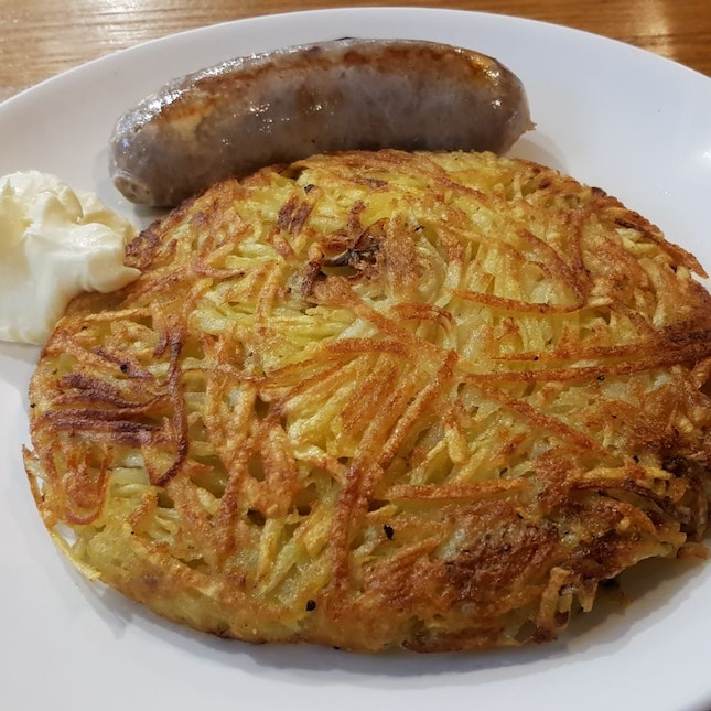 Rosti With Cheese Sausage