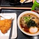 Sanuki Beef Egg Udon With Fried Fish ($11.20 + $2)