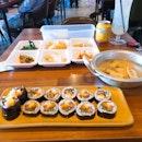 Ham Gimbap + Fishcake Set Meal ($12.50++)