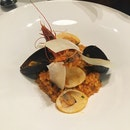 Risotto with Tiger Prawns, Mussels & Clams with Semi-Dried Tomato Sauce (RM38)