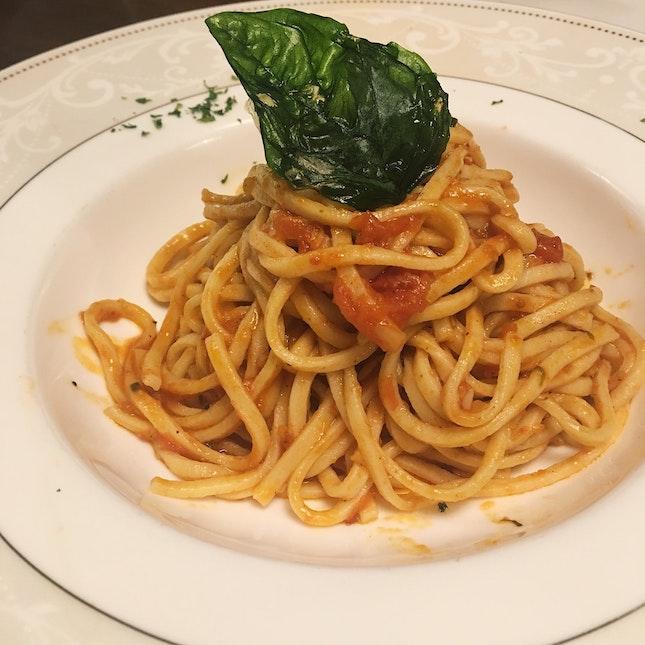 Spaghetti Alla Chitarra Pomodorini & Basilico (RM22)