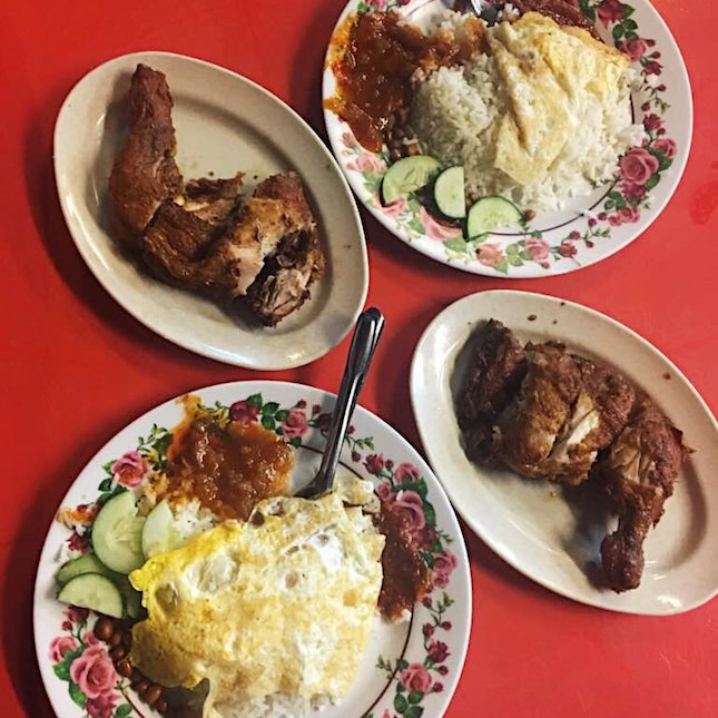 Nasi Lemak With Fried Chicken (RM9)