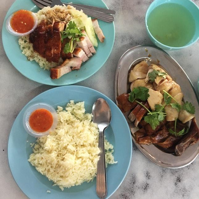 Chicken, Siew Yoke & Duck Rice (RM17)