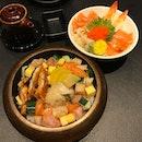 Senmi Sushi - one of my favourite chirashis 🍣 1️⃣Create your own Chirashi don (Base: $9 with Salmon, Tamago & Cucumber🥒 ) Min.