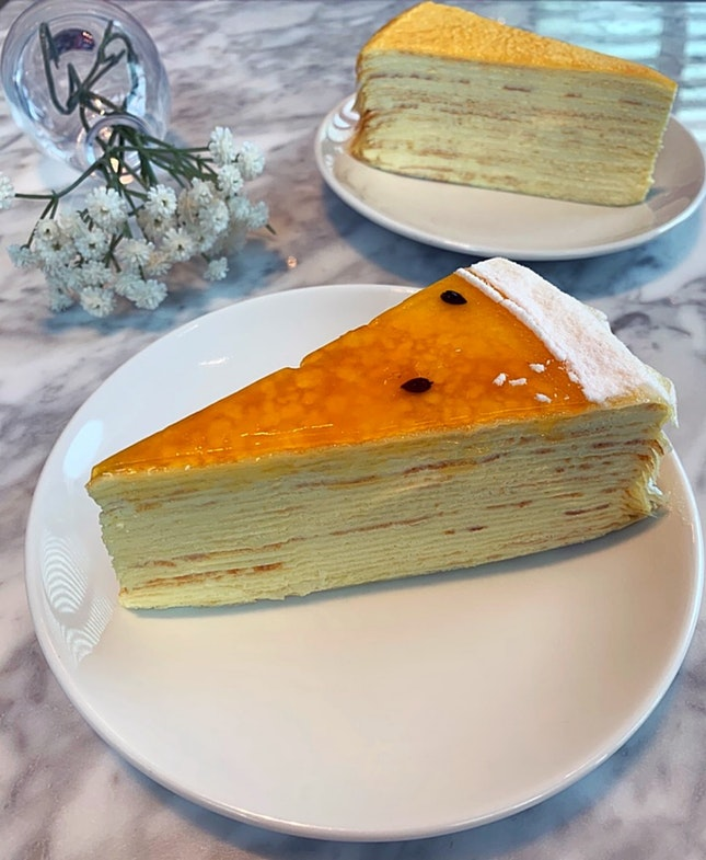 Passionfruit Mille Crepe
