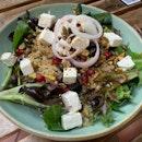 Quinoa salad w loadsa nice bits here & there!