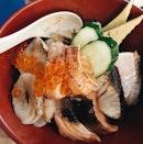 TAKE MY MONEY @thesushibar_sg this aburi chirashi is way too good #burpple #sgfood #japanesefood #sashimi