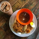 Mee Siam With Homemade Sauce And Teh Ais
