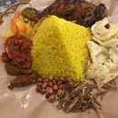 Nasi Kuning With Grilled Chicken
