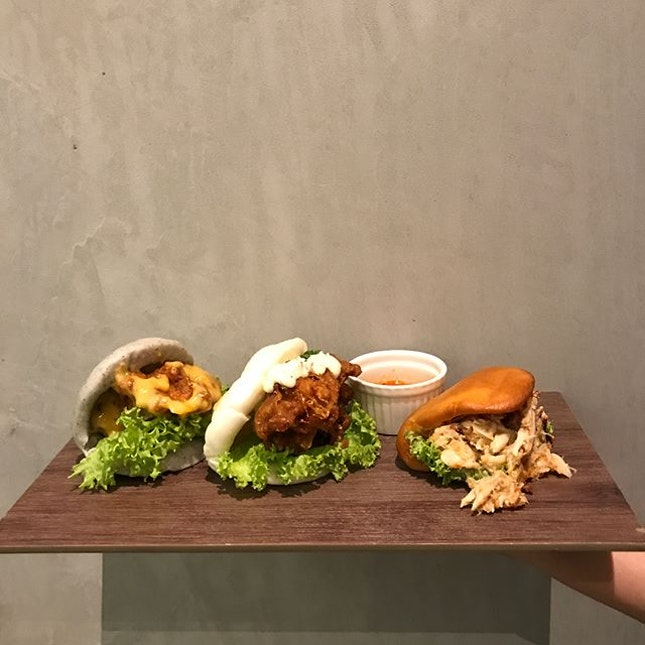 🍞(MAYBE it's time for a Bao emoji?!): Salted Egg Chicken 包, Nanban 包, Chilli Crab 包 (L to R) -- If you haven't heard of Bao makers, have you been living like Patrick ⭐️?