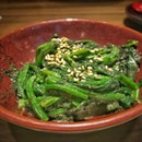 Review on Gomaae; Boiled Spinach with Sesame Sauce ($3)
