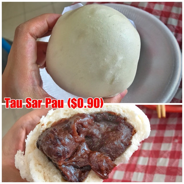 Review on Tau Sar (aka red bean) Pau ($0.90)