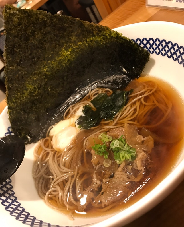 Niku-Fuji Soba, $8.88++