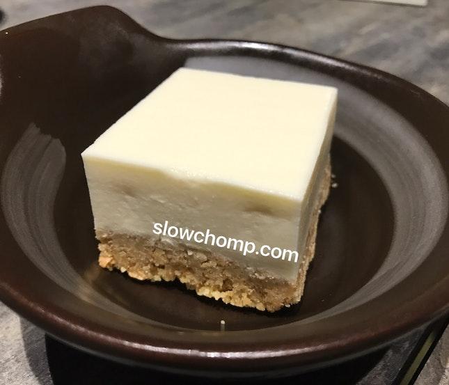 Tofu Cheesecake, $5.50++