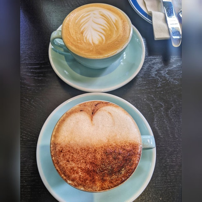 Latte and Cappuccino with oat milk