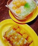 🍧: Beating the #summer #heat with a bowl of 🍈 rock melon & sago shaved ice.