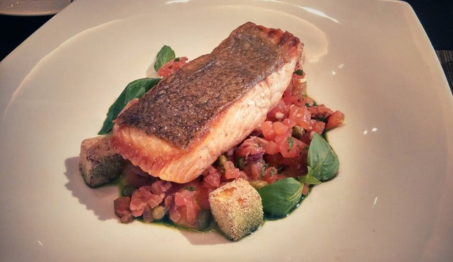 Slow-cooked Scottish Salmon With Succotash