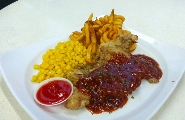 Chicken Chop With Garlic Chilli Sauce