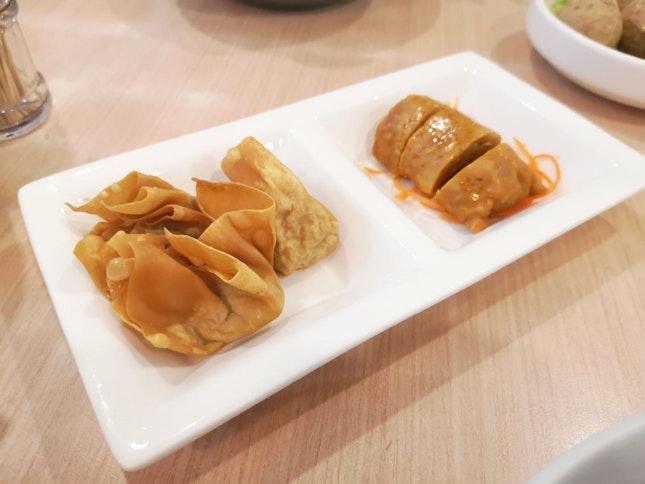 Fried Wantons & Muar Otah