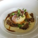 Porcini Mushrooms Casserole With Confit Egg, Summer Truffle & Chicken Jus