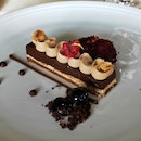 Chocolate & Hazelnut Tarte With Whisky Cream Amarena Cherries