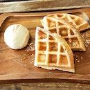 Butterscotch Ice Cream Waffles